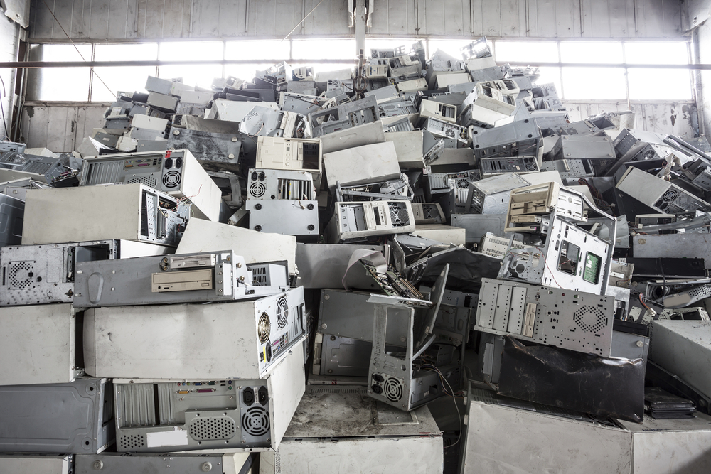 Piles of old computers