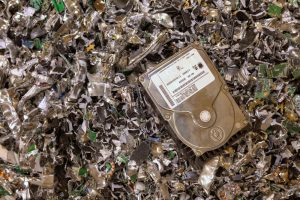 Data destruction with shredded hard drives